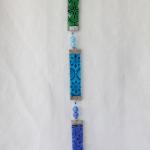 Pendentif en cristal coloré