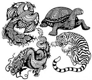 Les 4 animaux symboliques feng-shui
