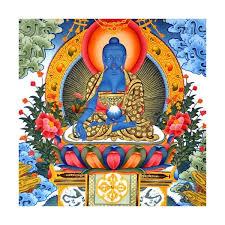 bouddha nedecine bleu