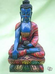 bouddha medecine bleu